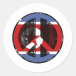 Paz en Corea del Norte Pegatina Redonda