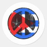 Paz en Cuba Etiquetas Redondas