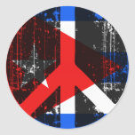 Paz en Cuba Pegatina Redonda