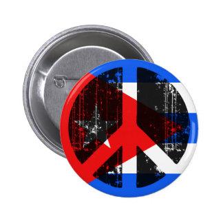 Paz en Cuba Pin Redondo De 2 Pulgadas