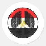 Paz en Egipto Pegatina Redonda