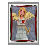 Paz en el ángel de la tierra - tarjeta de Navidad