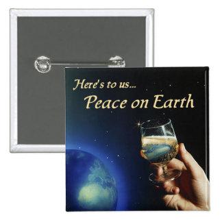 Paz en el botón de la tierra pins