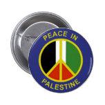 Paz en el botón de Palestina Pin
