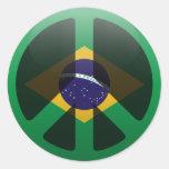 Paz en el Brasil Etiqueta Redonda