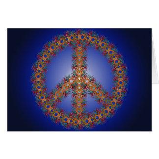 Paz en el horizonte tarjeta de felicitación