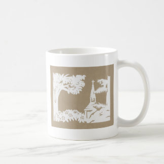 Paz en el hueco taza de café