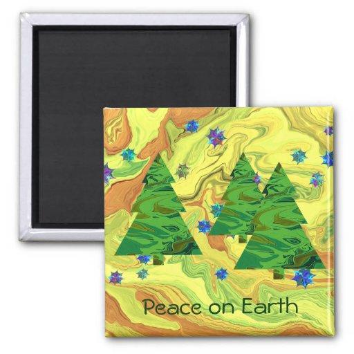 paz en el imán de los árboles de la tierra