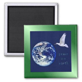Paz en el imán del cuadrado de la tierra