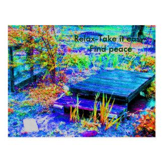 Paz en el jardín de MaMaw Tarjetas Postales