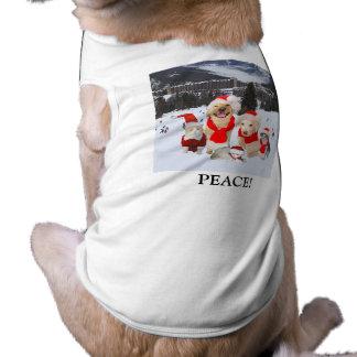 ¡Paz en el navidad! Playera Sin Mangas Para Perro
