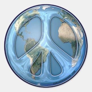 Paz en el pegatina de Drk de la tierra