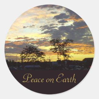 Paz en el pegatina de la tierra por RoseWrites