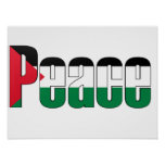 Paz en el poster de Palestina