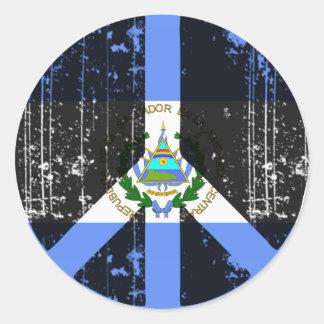 Paz en El Salvador Pegatina Redonda