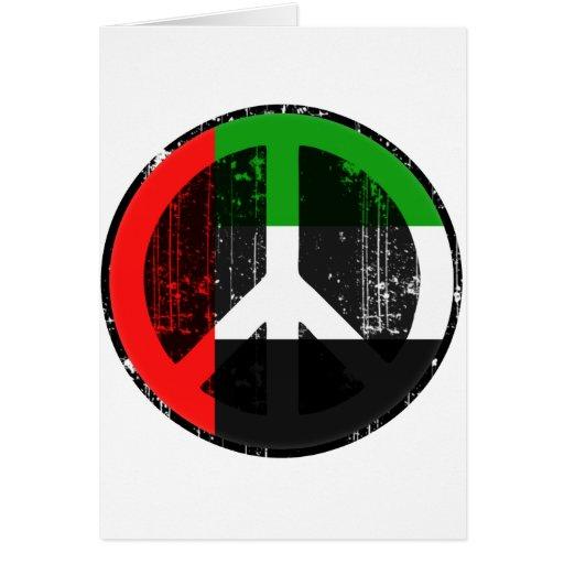 Paz en emiratos árabes tarjeton