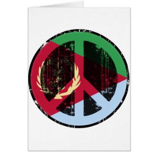 Paz en Eritrea Tarjeta De Felicitación