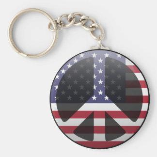 Paz en Estados Unidos Llaveros Personalizados