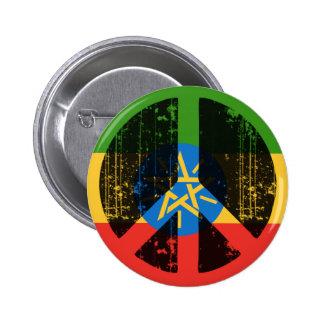 Paz en Etiopía Pin Redondo De 2 Pulgadas