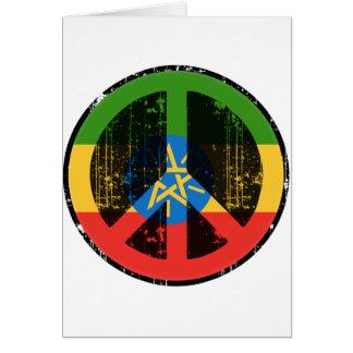 Paz en Etiopía Tarjeta De Felicitación