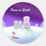 Paz en etiquetas del regalo de vacaciones de la pegatinas redondas