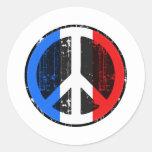 Paz en Francia Etiquetas Redondas