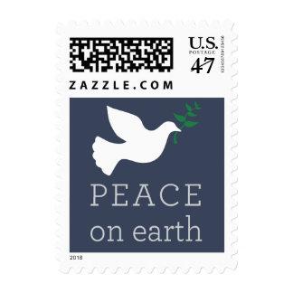 Paz en franqueo del día de fiesta de la tierra estampillas