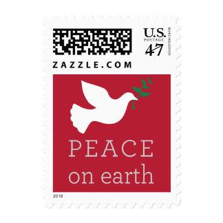 Paz en franqueo del día de fiesta de la tierra sello postal