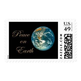 Paz en franqueo del navidad de la tierra sello postal