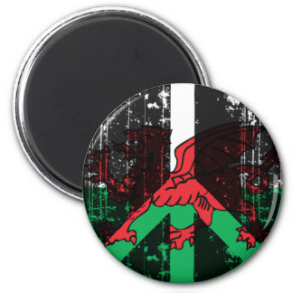 Paz en Galés Imán Redondo 5 Cm