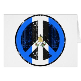 Paz en Guatemala Tarjeta