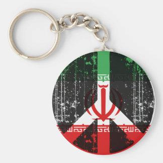 Paz en Irán Llavero Redondo Tipo Pin