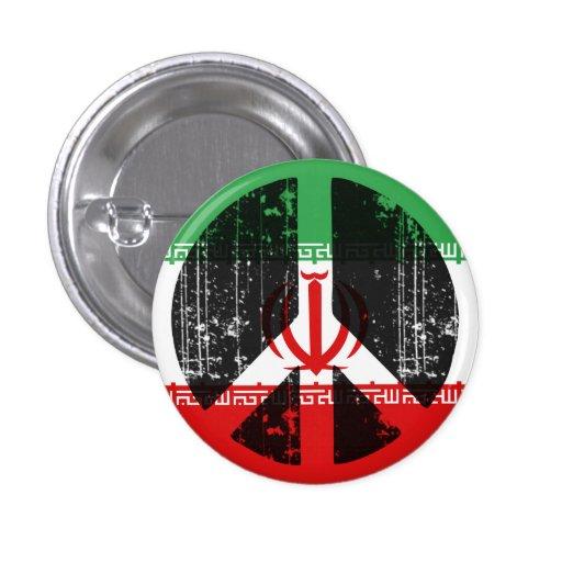 Paz en Irán Pin Redondo 2,5 Cm