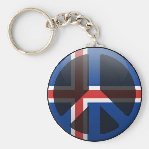 Paz en Islandia Llavero Personalizado
