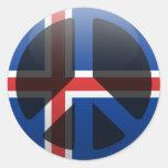 Paz en Islandia Pegatina Redonda