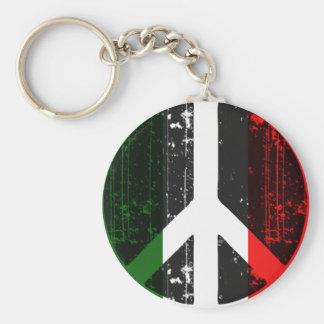 Paz en Italia Llavero Redondo Tipo Pin