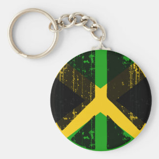 Paz en Jamaica Llavero Redondo Tipo Pin