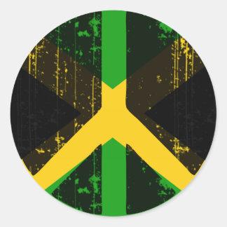 Paz en Jamaica Pegatina Redonda