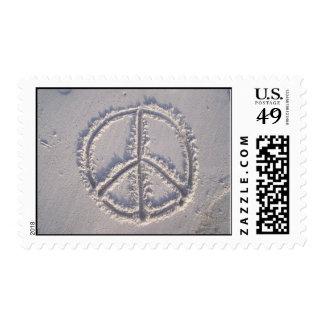 Paz en la arena timbre postal