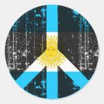 Paz en la Argentina Pegatina Redonda