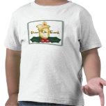 Paz en la camisa de los niños de la tierra
