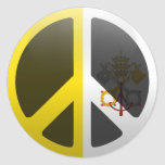 Paz en la Ciudad del Vaticano Pegatina Redonda