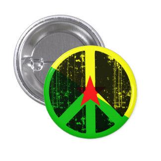 Paz en la Guayana Francesa Pin Redondo 2,5 Cm