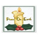 Paz en la invitación de la tierra invitación 10,8 x 13,9 cm