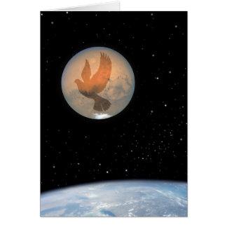 Paz en la paloma de la paz de la tierra - telescop tarjetón