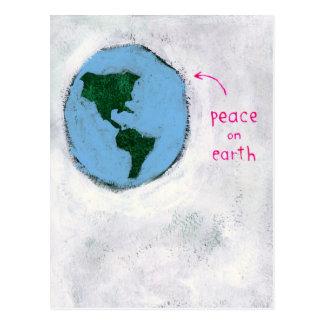 paz en la postal de la tierra