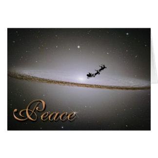Paz en la tarjeta de Navidad de la galaxia