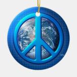 Paz en la tierra adornos de navidad