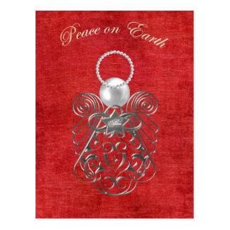 Paz en la tierra - ángel del navidad de la paz - postal