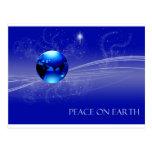 Paz en la tierra - azul postal